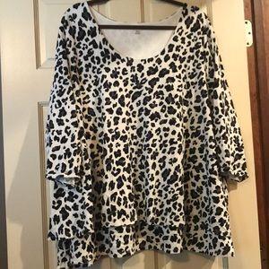 🖤 Layered Cheetah 3/4 Sleeve Shirt